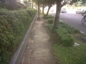 Trotoir Jalan Protokoler Gatot Subroto